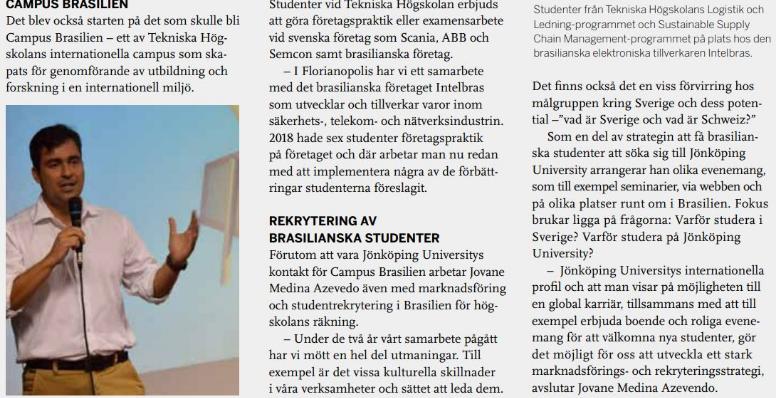Revista sueca destaca trabalho de internacionalização liderado por professor da Udesc