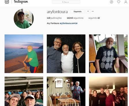 Ary Fontoura tem perfil ativo no Instagram aos 84 anos